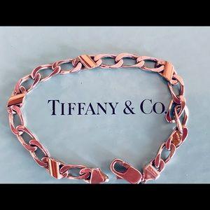 Tiffany Sterling Silver Bracelet with 18K Gold